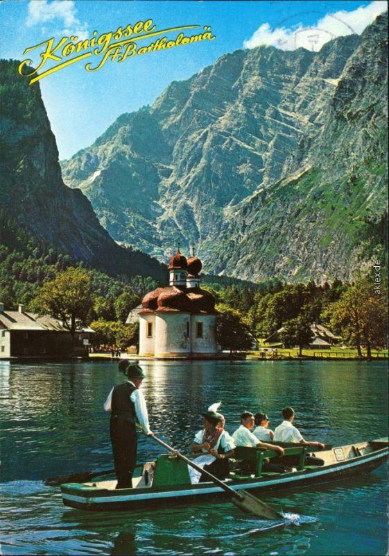 St. Bartholomä-Schönau am Königssee St. Bartholomä am Königssee mit Boot 1994