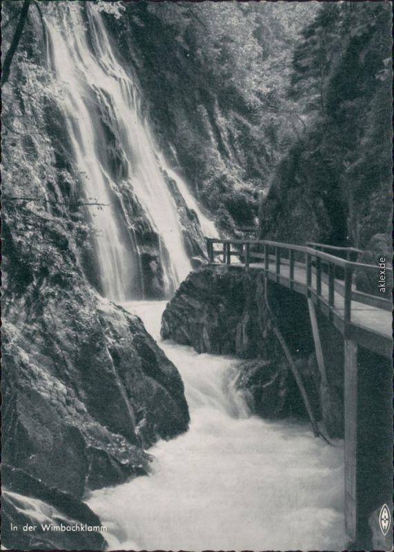 Ansichtskarte Ramsau (Wimbachtal) Wimbachklamm 1955