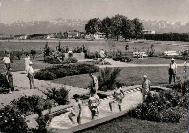Ansichtskarte Bad Wörishofen Wassertreten 1975