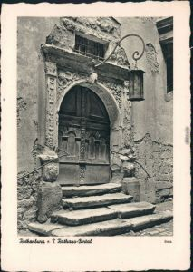 Ansichtskarte Rothenburg ob der Tauber Altes Rathausportal 1929