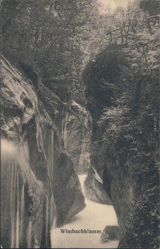 Ansichtskarte Ramsau (Wimbachtal) Wimbachklamm 4 1924