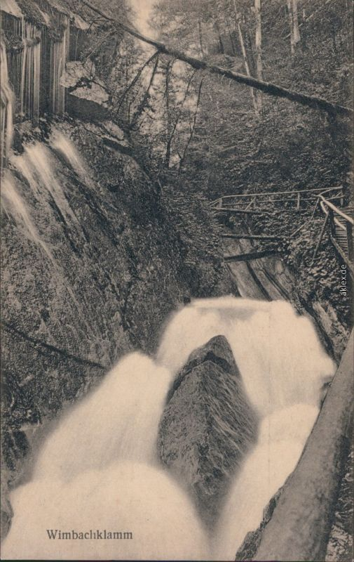 Ansichtskarte Ramsau (Wimbachtal) Wimbachklamm  3 1924