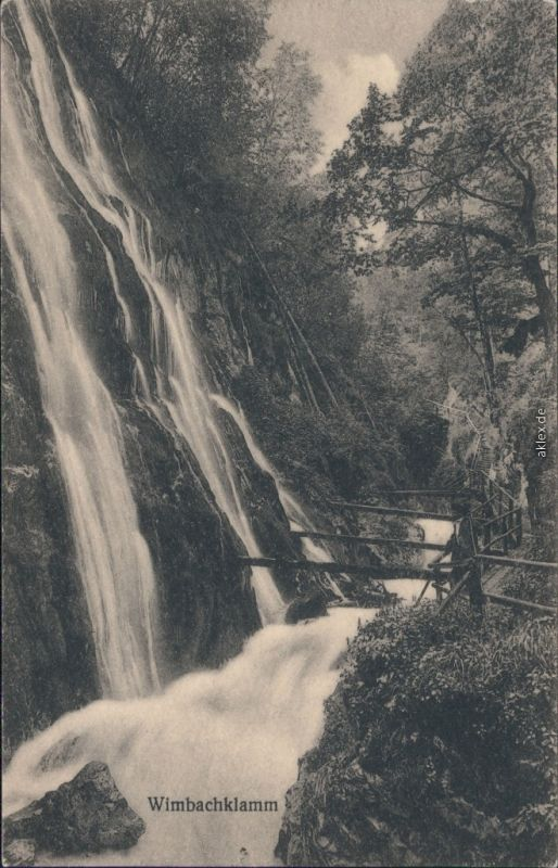 Ansichtskarte Ramsau (Wimbachtal) Wimbachklamm 2 1924