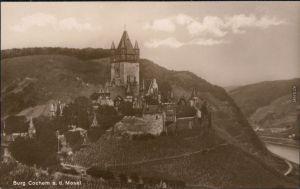 Ansichtskarte Cochem Kochem Reichsburg Cochem 1930