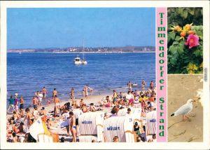 Ansichtskarte Timmendorfer Strand Strand mit vielen Badegästen 1984