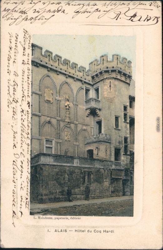 Ansichtskarte Alais Alès Hotel du Coq Hardi 1912