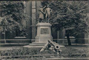 Postcard Kolberg Kołobrzeg Denkmal Gneisenau und Nettelbeck 1915