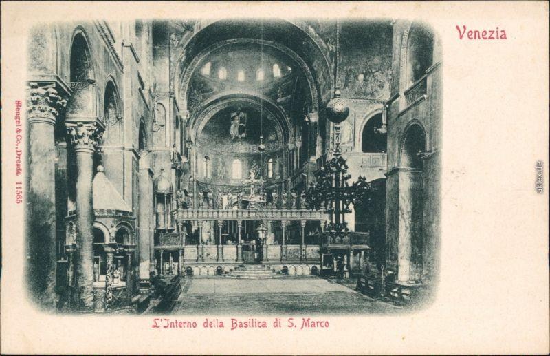 Ansichtskarte Venedig Venezia Markusdom (Basilica di San Marco) 1908
