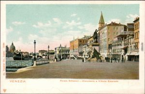 Venedig Venezia Riva degli Schiavoni mit Monumento a Vittorio Emanuele II 1905