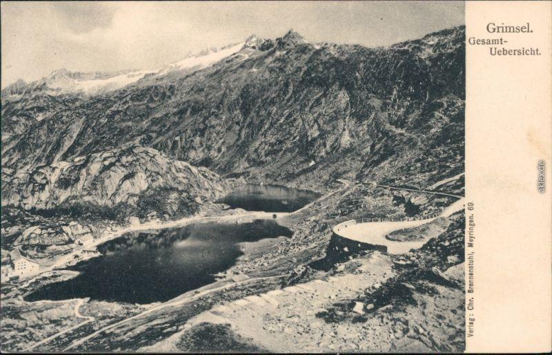 Ansichtskarte Gletsch Grimsel (Grimselpass) mit Totensee 1909