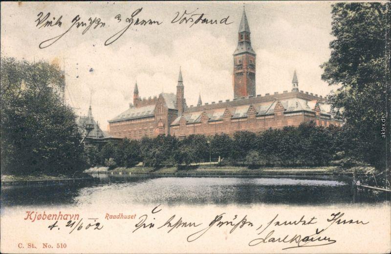 Kopenhagen København Copenhagen City Hall (Københavns Rådhus) 1910
