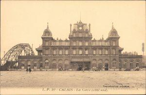 Ansichtskarte Calais La Gare (cote sud)/Bahnhof 1919