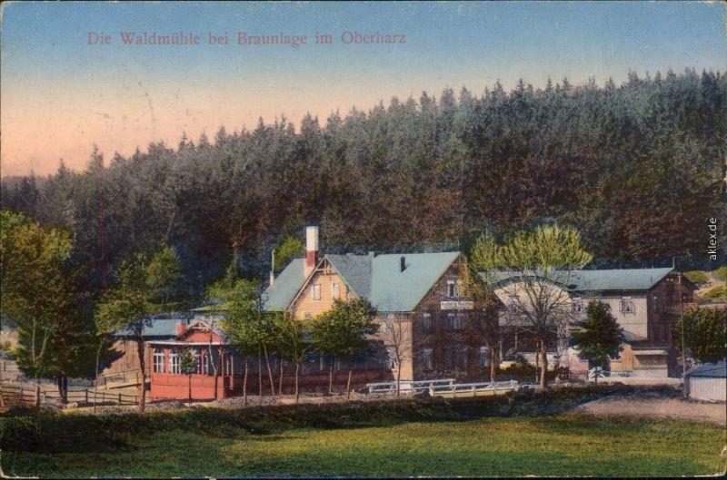 Ansichtskarte Braunlage Waldmuhle 1916 Nr 94171 Oldthing