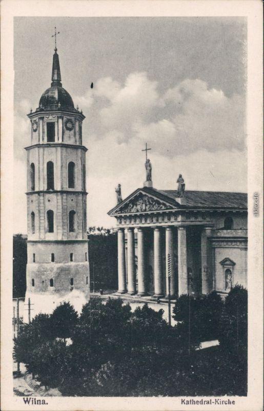 Ansichtskarte Wilna Vilnius Kathedral Kirche - Platz 1922