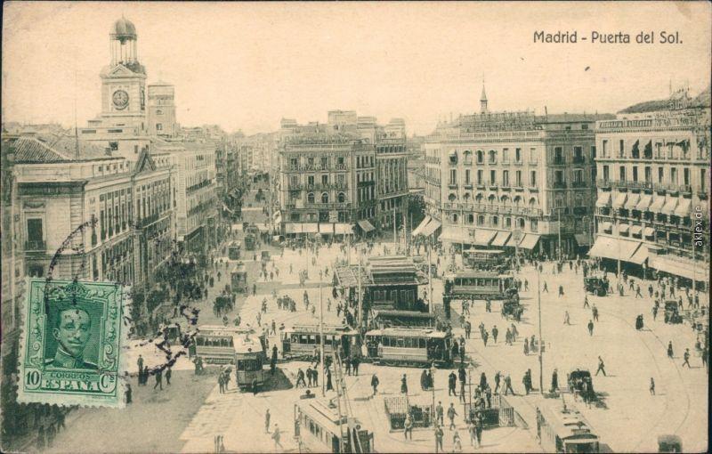 Ansichtskarte Madrid Puerta del Sol 1908
