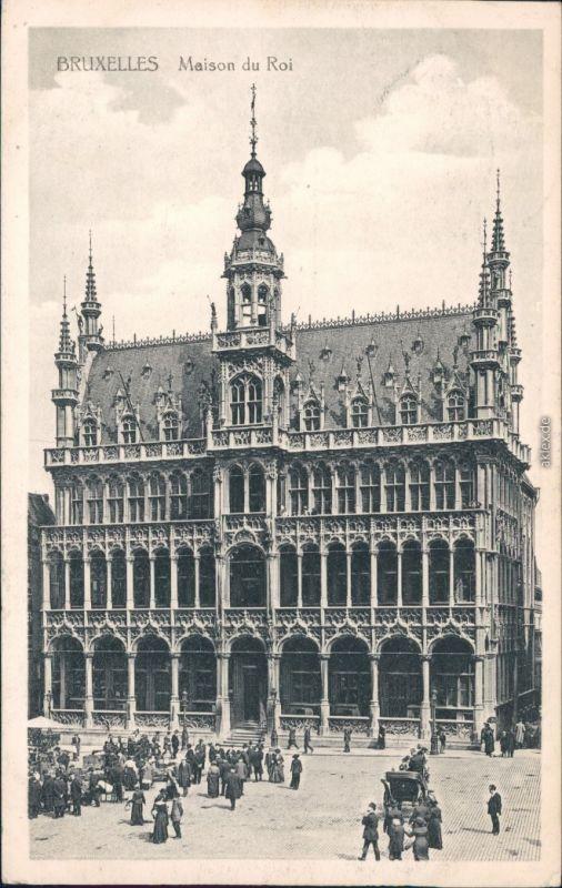 Ansichtskarte Brüssel Bruxelles Maisen du Roi - belebt 1918