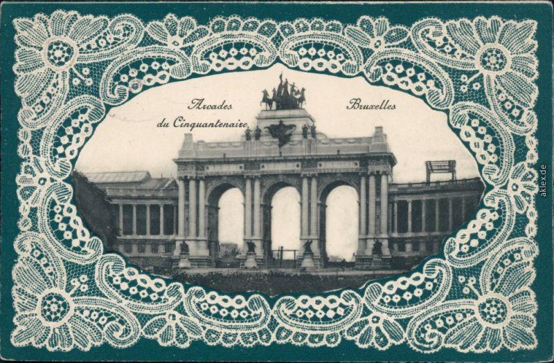 Etterbeek-Brüssel Bruxelles Parc du Cinquantenaire 1910 Prägekarte