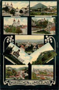 Mariaschein Graupen Bohosudov Krupka Unterer Platz,  Mückentürmchen, 1907