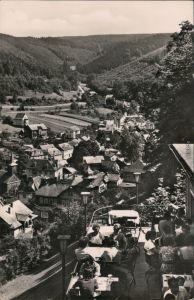 Schwarzburg Panorama-Ansicht von der Hotel-Terrasse Schwarzburg 1957