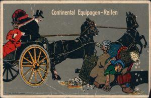 Ansichtskarte  Continental Equipagen Reifen - Werbekarte 1918