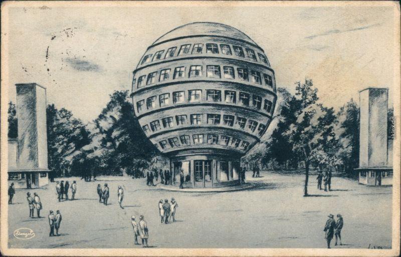 Ansichtskarte Dresden Kugelhaus 1928