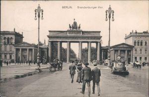 Ansichtskarte Mitte-Berlin Brandenburger Tor - BSR Reinigung Pferdewagen 1911