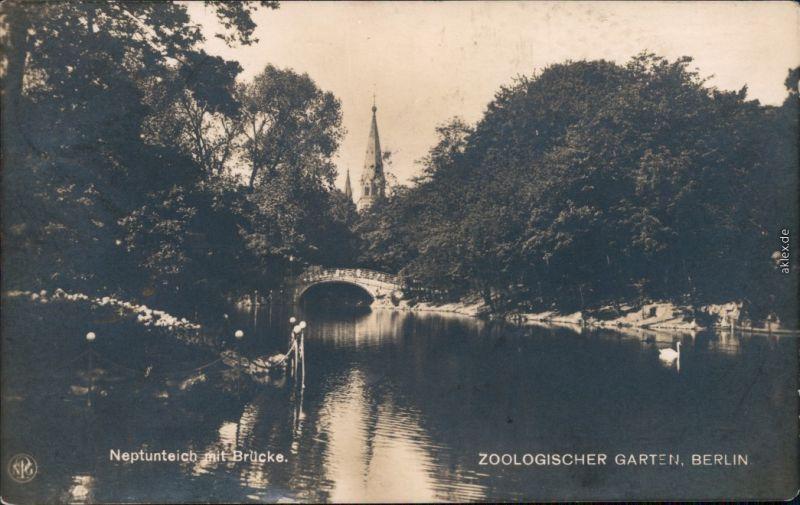 Ansichtskarte Charlottenburg-Berlin Zoologischer Garten - Neptunteich 1926