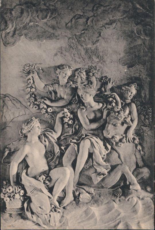 Kassel Cassel Marmorbad - Entführung der Europa durch Jupiter 1914