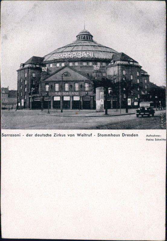 Ansichtskarte Innere Neustadt-Dresden Zirkus Sarrasani 1944