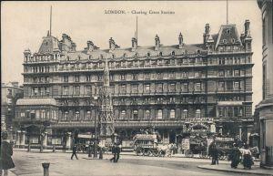 Charing Cross-London Bahnhof London Charing Cross - Nordseite 1914