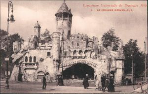 Ansichtskarte Brüssel Bruxelles Exposition de Bruxelles Burg 1910
