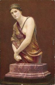 Ansichtskarte  Skulptur - Erotik Erotika - Frau 1913