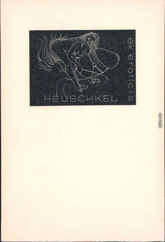 Menschen / Soziales Leben - Erotik (Nackt - Nude) - Frau auf Phallus 1930