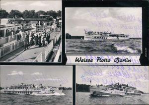 Ansichtskarte Berlin Weiße Flotte Berlin - Bootssteg und Fähren 1976