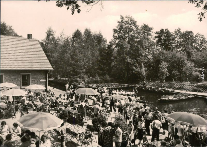 Lehde (Spreewald)-Lübbenau    Gasthaus zum fröhlichen Hecht (Lehde) 1981