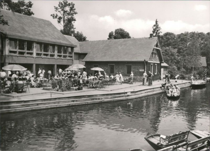 Lehde (Spreewald)-Lübbenau (Spreewald)  Gasthaus zum fröhlichen Hecht   1982