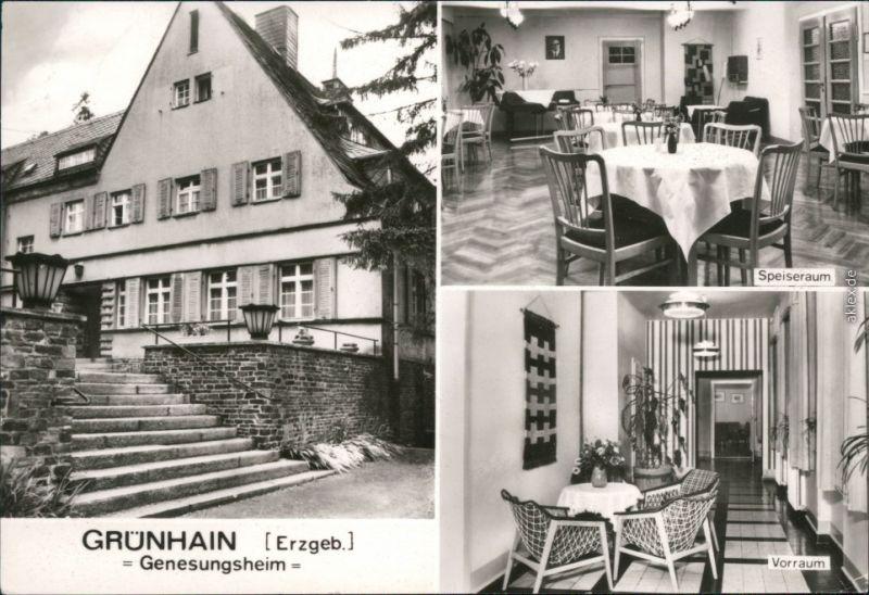 Grünhain-Grünhain-Beierfeld Genesungsheim - Außen- und Innenansicht 1985