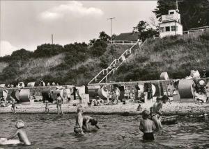 Ansichtskarte Nienhagen Strand mit Badegästen 1977