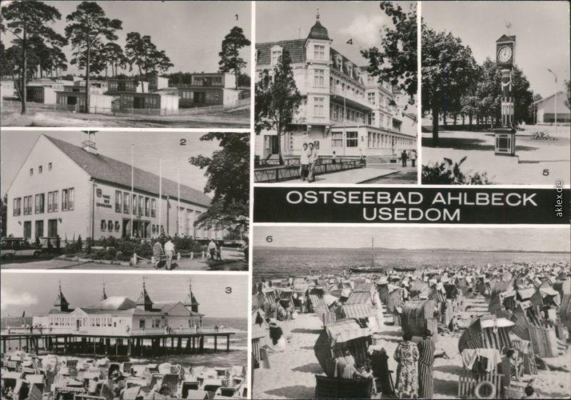Ahlbeck (Usedom) FDGB-Urlauberdorf, FDGB-Erholungsheim Haus der Erholung  1982