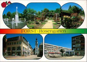 Forst (Lausitz) Rosengarten Springbrunnen, Cottbuser Straße, Rosenbrunnen 1995