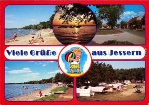 Ansichtskarte Jessern Strand mit Badegästen, Ortsmotiv, Campingplatz 1995