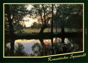 Lübben (Spreewald) Lubin (Błota) Abenddämmerung im Spreewald - Kanal 1995