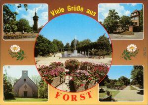 Forst (Lausitz) Baršć Wasserturm, Krankenhaus, Rosengarten, Bachkirche 1995