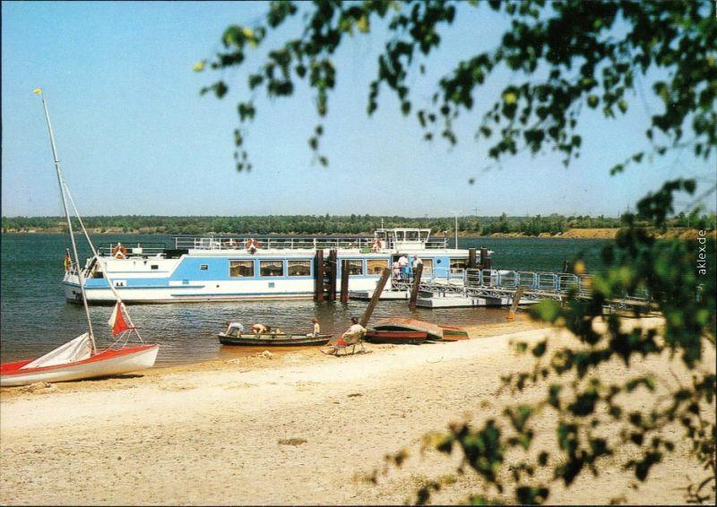 Senftenberg (Niederlausitz) Senftenberger See - Großkoschen Anlegestelle 1989