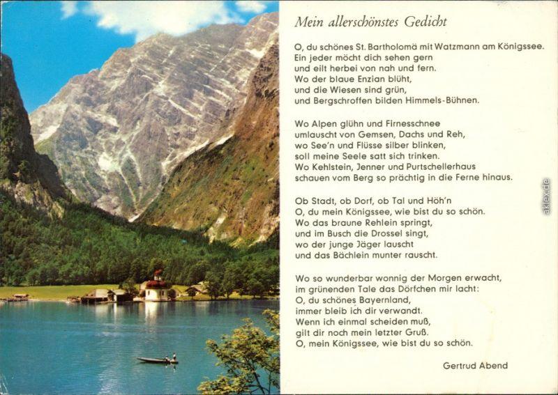 St. Bartholomä-Schönau am Königssee Gedicht von Gertrud Abend 1982