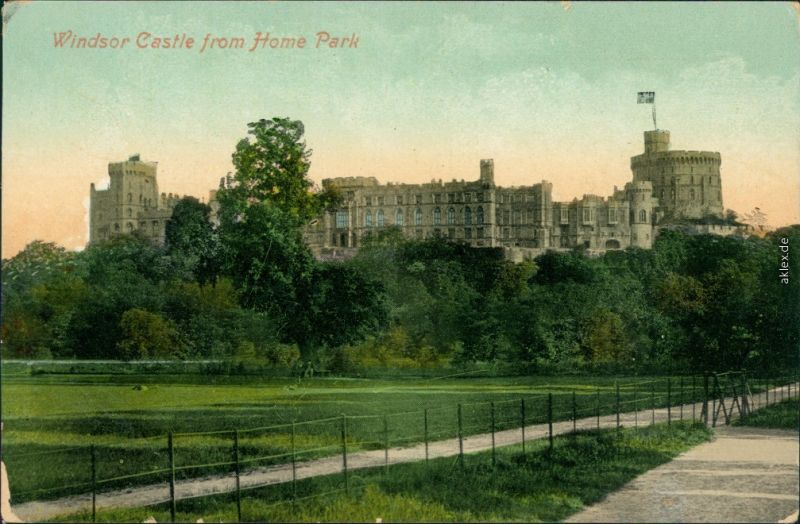 Ansichtskarte Windsor Windsor Castle Schloss 1913