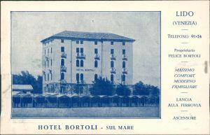 Ansichtskarte Lido di Venezia-Venedig Venezia Hotel Bortoli Sul Mare 1930