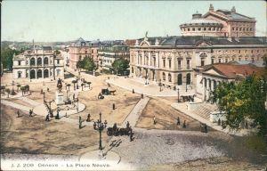 Ansichtskarte Genf Genève La Place de Neuve 1912