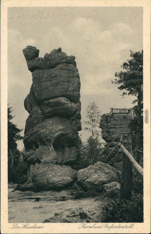 Karlsberg Karłów Heuscher - Kamel und Großvaterstuhl 1930