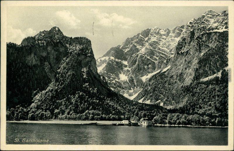 St. Bartholomä-Schönau Königssee 1939 Stempel Jeder Volksgenosse Rundfunkhöhrer